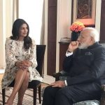 Berlin: A picture shared by Priyanka Chopra on Instagram that shows her meeting Prime Minister Narendra Modi in Berlin, Germany on May 30, 2017. by .