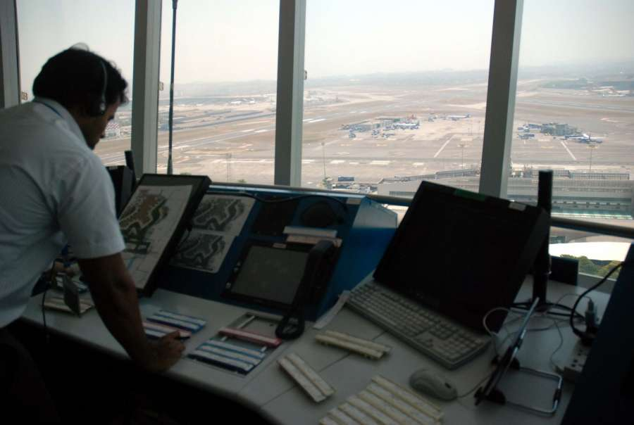 Mumbai: Air Traffic Control (ATC) tower - the tallest ATC tower in the country at the Chhatrapati Shivaji International Airport in Mumbai on March 20, 2017. (Photo: IANS) by .