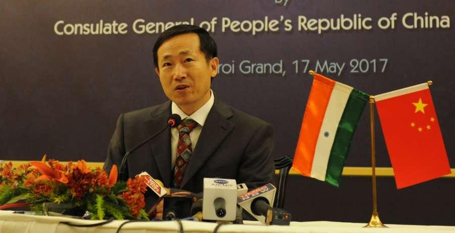 "Kolkata: Chinese Consul General in Kolkata Ma Zhanwu during a press conference in Kolkata on ""Belt and Road Forum for International Cooperation"" in Kolkata, on May 17, 2017. (Photo: Kuntal Chakrabarty/IANS) by ."