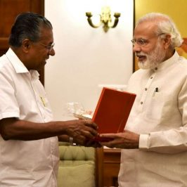 New Delhi: Kerala Chief Minister Pinarayi Vijayan calls on the Prime Minister Narendra Modi, in New Delhi, on May 28, 2016. (Photo: IANS/PIB) by .