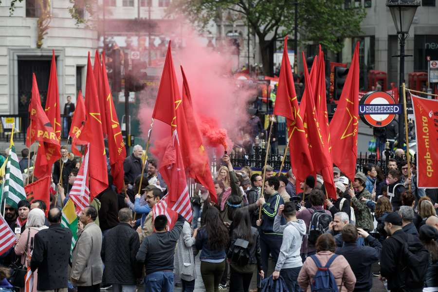 BRITAIN-LONDON-MAY DAY RALLY by .