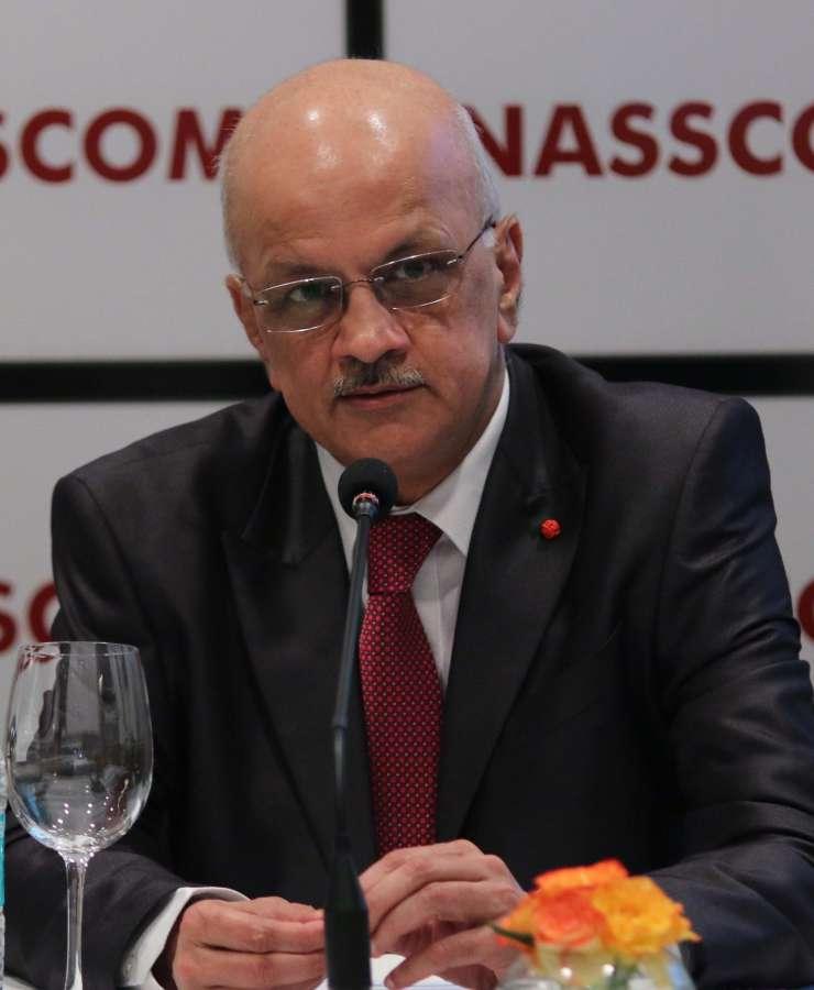 New Delhi: Nasscom president R Chandrashekhar during a press conference regarding `Perspective 2025: Shaping the Digital Revolution` in New Delhi on Oct 5, 2015. (Photo: IANS) by .