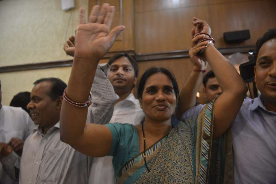 New Delhi: Nirbhaya's mother Asha Devi after Supreme Court upheld the death sentence on all four convicts in the brutal Nirbhaya gang-rape of December 2012 that led to her death and caused national outrage in New Delhi on May 5, 2017. (Photo: IANS) by .