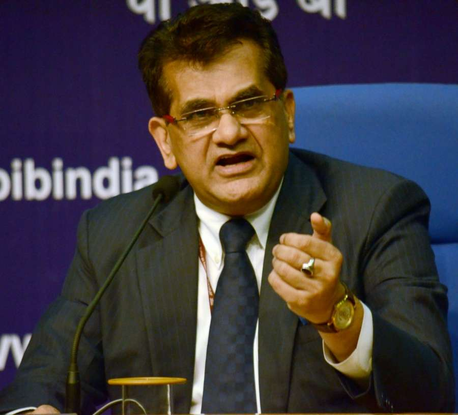 New Delhi: NITI Aayog CEO Amitabh Kant addresses a press conference on Digital Payments in New Delhi on Dec 15, 2016. (Photo: IANS) by .