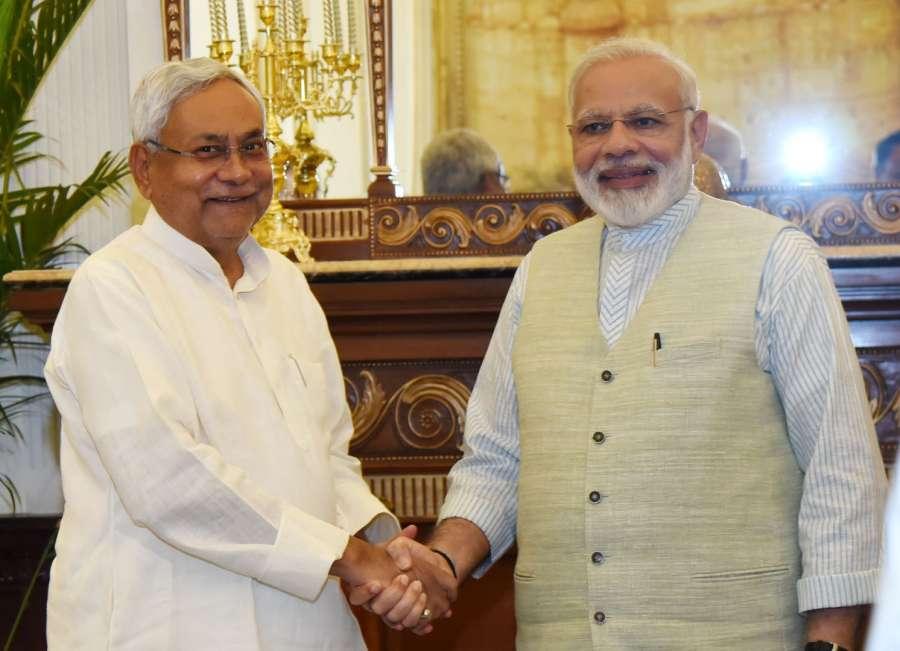 New Delhi: Bihar Chief Minister Nitish Kumar calls on Prime Minister Narendra Modi, in New Delhi on May 27, 2017. (Photo: IANS/PIB) by .