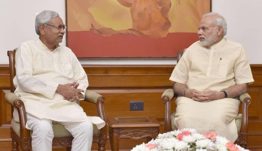 New Delhi: Bihar Chief Minister Nitish Kumar calls on the Prime Minister Narendra Modi, in New Delhi on Aug 23, 2016. (Photo: IANS/PIB) by .
