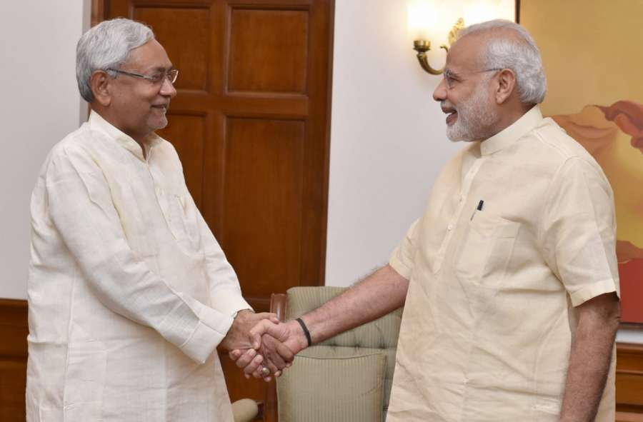 New Delhi: Bihar Chief Minister Nitish Kumar calls on the Prime Minister Narendra Modi, in New Delhi on Aug 23, 2016. (Photo: IANS/PIB) by .