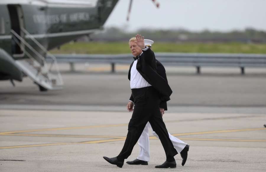 U.S.-NEW YORK-TRUMP-HOMECOMING-VISIT by .