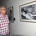 "Kolkata: Actor Soumitra Chatterjee during inauguration of Nemai Ghosh's photo exhibition ""Satyajit Ray: The Many Moods of a Maestro"" in Kolkata, on May 30, 2017. (Photo: IANS) by ."