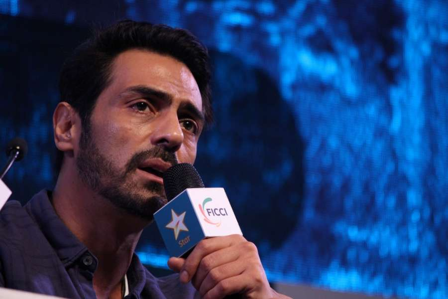 Mumbai: Actor Arjun Rampal during the session on The Making & Magic of Daddy - Story of Arun Gawali at the FICCI Frames 2017 in Mumbai on March 23, 2017. (Photo: IANS) by .