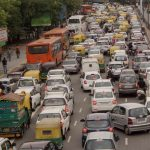 New Delhi: Vehicles crawl on Delhi roads due to traffic congestion on Raksha Bandhan in New Delhi, on Aug 18, 2016. (Photo: IANS) by .