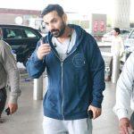 Mumbai: Actor John Abraham spotted at airport. (Photo: IANS) by .