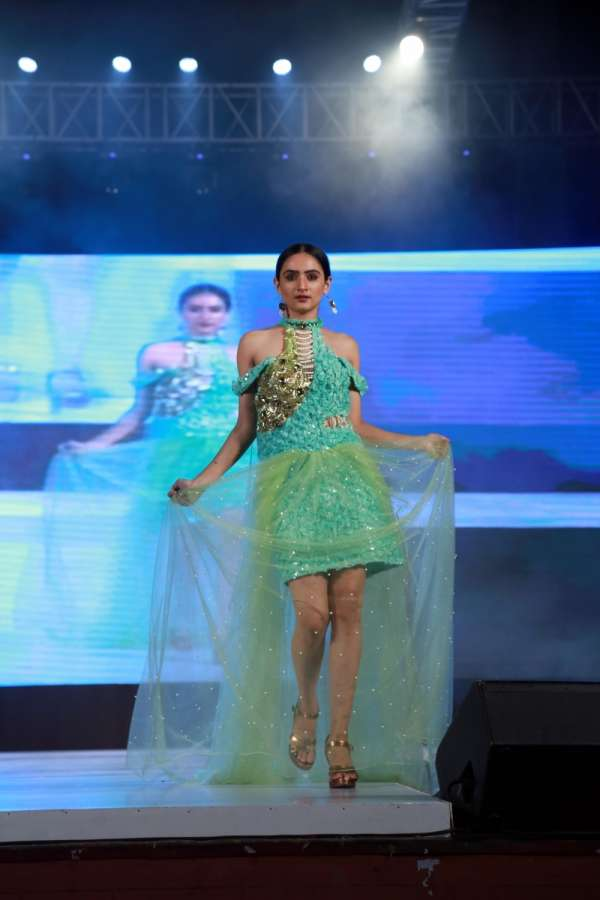 New Delhi: A model walks the ramp during an Indo-Russia Fashion Show in New Delhi, on June 18, 2017. (Photo: Amlan Paliwal/IANS) by .