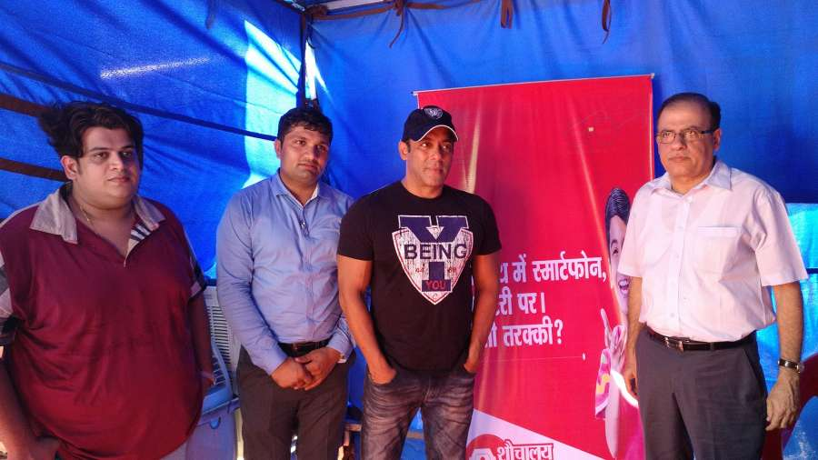 Mumbai: Actor Salman Khan during a programme organised to hand over