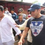 """Mumbai: Actor Salman Khan during a programme organised to hand over """"public utility toilets"""" to people of Madras Pada in Mumbai on June 9, 2017. (Photo: IANS) by ."""