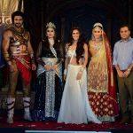 "Mumbai: Television actors Vishal Aditya Singh, Urvashi Dholakia, Madhurima Tuli, Shilpa Sakhlani and Raj Nayak, CEO, Colors during launch of serial ""Chandrakanta"" in Mumbai, on June 14, 2017. (Photo: IANS) by ."
