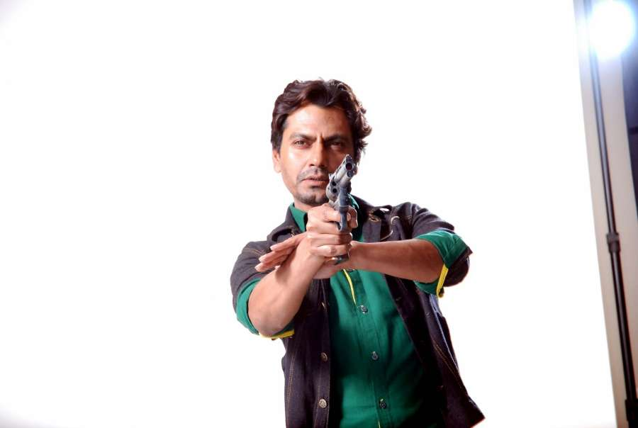 Mumbai: Actor Nawazuddin Siddiqui during a photoshoot for the poster of his upcoming film