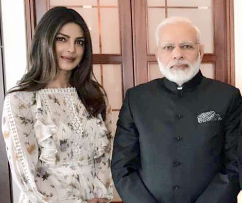 Berlin: A picture shared by Priyanka Chopra on Twitter that shows her meeting Prime Minister Narendra Modi in Berlin, Germany on May 30, 2017. by .
