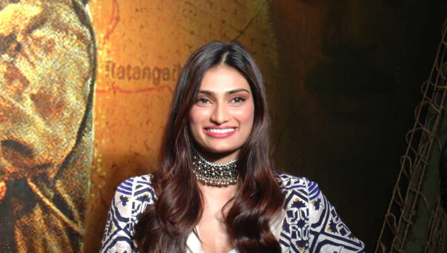 Mumbai: Actress Athiya Shetty during the celebrations 20 years completion of film Border, in Mumbai in Mumbai on June 11, 2017. (Photo: IANS) by .