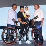 Mumbai: Actor Salman Khan and Atul Gupta, MD and CEO during the launch of Being Human electric bicycles in Mumbai on June 5, 2017. (Photo: IANS) by .
