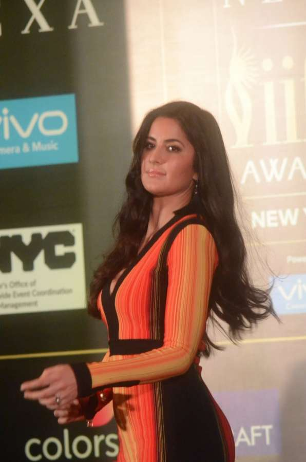 Mumbai: Bollywood star Katrina Kaif during the press conference to reveal details about 18th edition of the International Indian Film Academy (IIFA) Awards in Mumbai on June 1, 2017. (Photo: Sandeep Mahankal/IANS) by .