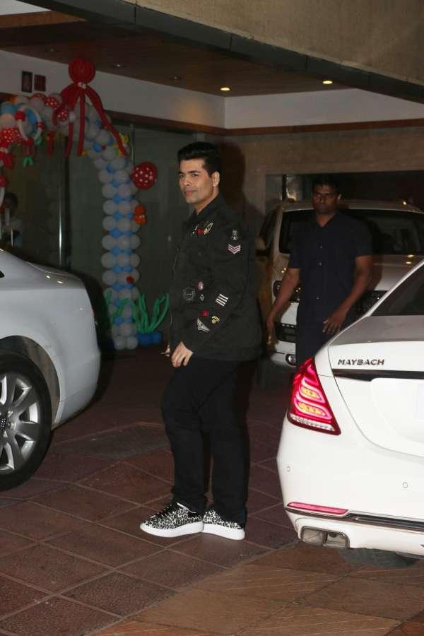 Mumbai: Filmmaker Karan Johar during Tussar Kapoor son Laksshay`s first birthday party in Mumbai on June 1, 2017. (Photo: IANS) by .