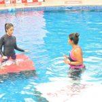 Mumbai: Actress AYami Gautam practice Speedo Aquafit-Vertical underwater fitness training program in Mumbai, on June 21, 2017. (Photo: IANS) by .