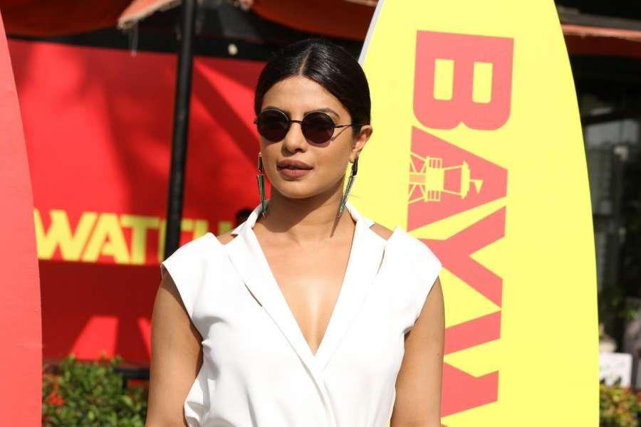 Caption : Mumbai: Actress Priyanka Chopra during a programme organised to promote of her upcoming Hollywood film