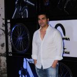 Mumbai: Actor Arbaaz Khan during the launch of Being Human electric bicycles in Mumbai on June 5, 2017. (Photo: IANS) by .