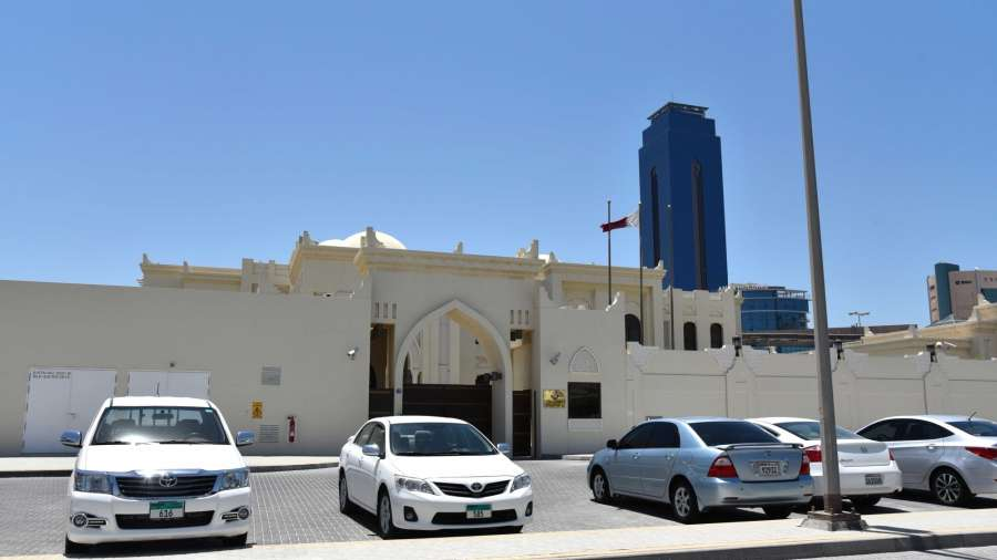 MANAMA, June 5, 2017 (Xinhua) -- Photo taken on June 5, 2017 shows the Embassy of Qatar in Manama, Bahrain. Bahrain announced Monday it cut ties with Qatar, accusing the country of disturbing its security and stability, according to the Bahrain News Agency. (Xinhua/Wang Bo/IANS)(rh) by .