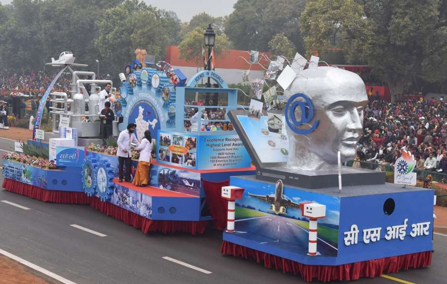 New Delhi: The tableau of the Council of Scientific & Industrial Research (CSIR) passes through the Rajpath, on the occasion of the 68th Republic Day Parade 2017, in New Delhi on Jan 26, 2016. (Photo: IANS/PIB) by .