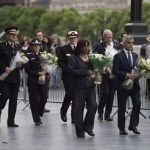 LONDON, June 5, 2017 (Xinhua) -- London Mayor Sadiq Khan (2nd R, front) attends a mourning for the victims of the London Bridge attack in London, Britain, on June 5, 2017. The London Bridge attack occured on Saturday claimed seven lives and injured 48 others. (Xinhua/IANS) by .