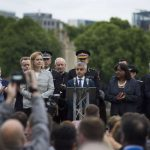 LONDON, June 5, 2017 (Xinhua) -- London Mayor Sadiq Khan (C) attends a mourning for the victims of the London Bridge attack in London, Britain, on June 5, 2017. The London Bridge attack occured on Saturday claimed seven lives and injured 48 others. (Xinhua/IANS) by .