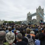 LONDON, June 5, 2017 (Xinhua) -- People take part in a mourning for the victims of the London Bridge attack in London, Britain, on June 5, 2017. The London Bridge attack occured on Saturday claimed seven lives and injured 48 others. (Xinhua/IANS) by .