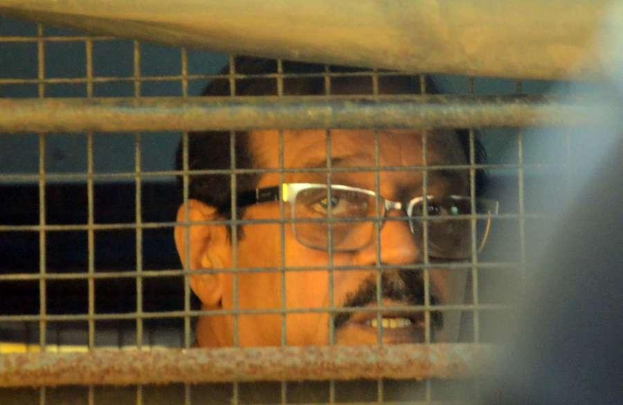 Mumbai: 1993 Mumbai bomb blast accused Musttafa Dosa being produced in a TADA court in Mumbai on June 16, 2017. (Photo: Sandeep Mahankal/IANS) by .