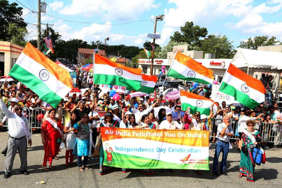 New Jersey: Indian participate during a parade organised on the occasion of India's 70th Independence Daycelebration in New Jersey on Aug 15, 2016. (Photo: Mohammed Jaffer/IANS) by .