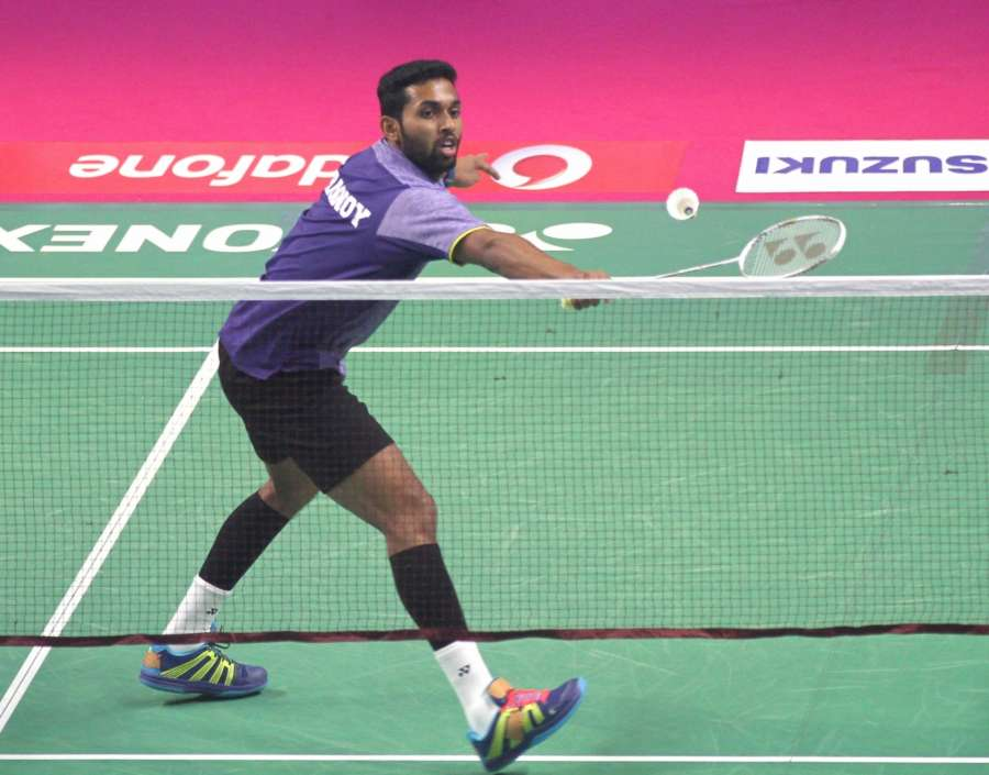 Bengaluru: H S Prannoy of Mumbai Rockets plays against Parupalli Kashyap of ChennaiSmashers during a Premier Badminton League 2017 match at Koramangala Indoor Stadium in Bengaluru, on Jan 10, 2017. (Photo: IANS) by .