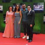Mumbai: Anjali Tendulkar, Bollywood actress Anushka Sharma, Indian cricket players Virat Kohli and Sachin Tendulkar during the premiere of film Sachin: A Billion Dreams in Mumbai, on May 24, 2017. (Photo: IANS) by .