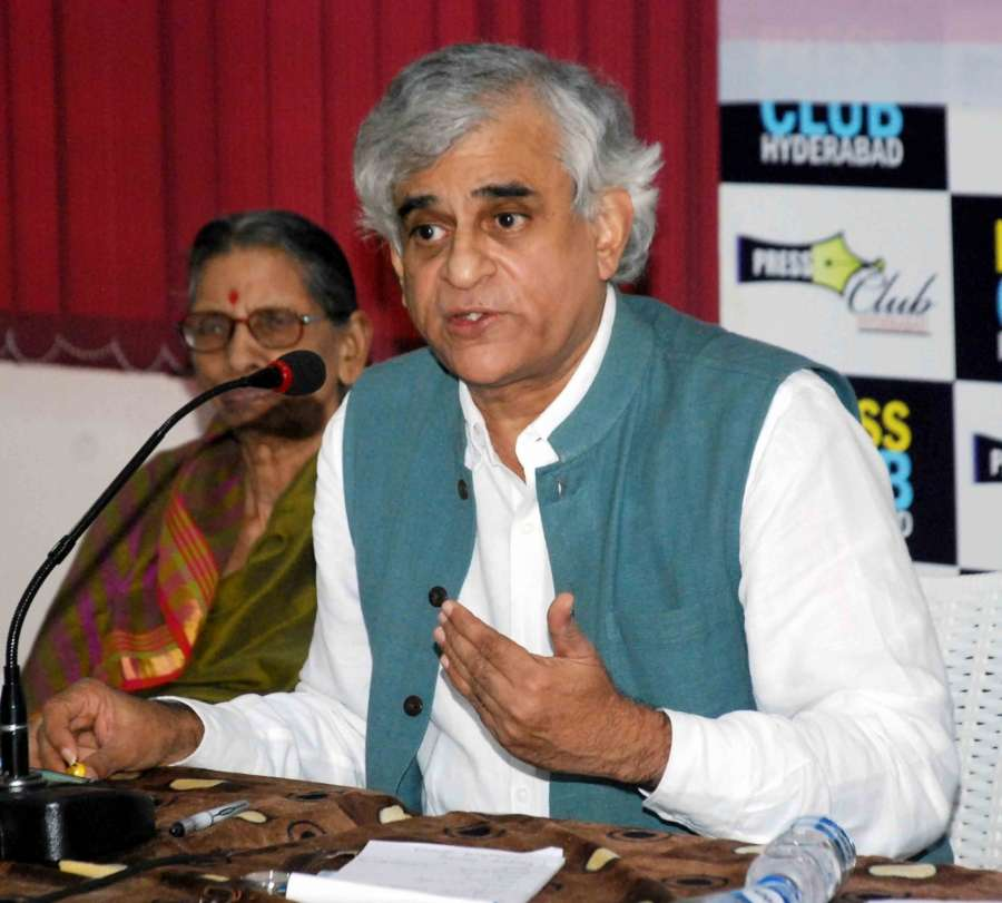 Hyderabad: Journalist P Sainath addresses during V Hanumantha Rao Memorial Lecture in Hyderabad, on June 4, 2017. (Photo: IANS) by .