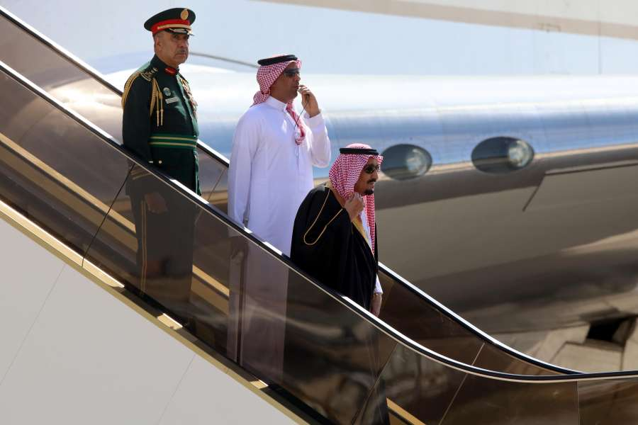 JORDAN-AMMAN-SAUDI ARABIA-KING SALMAN-VISIT by .