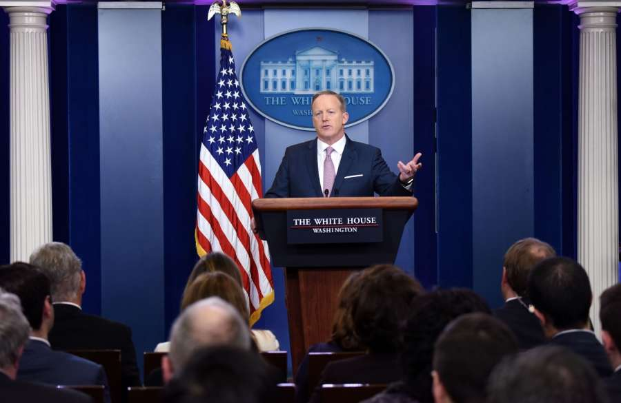 White House Press Secretary Sean Spicer. (File Photo: IANS) by .