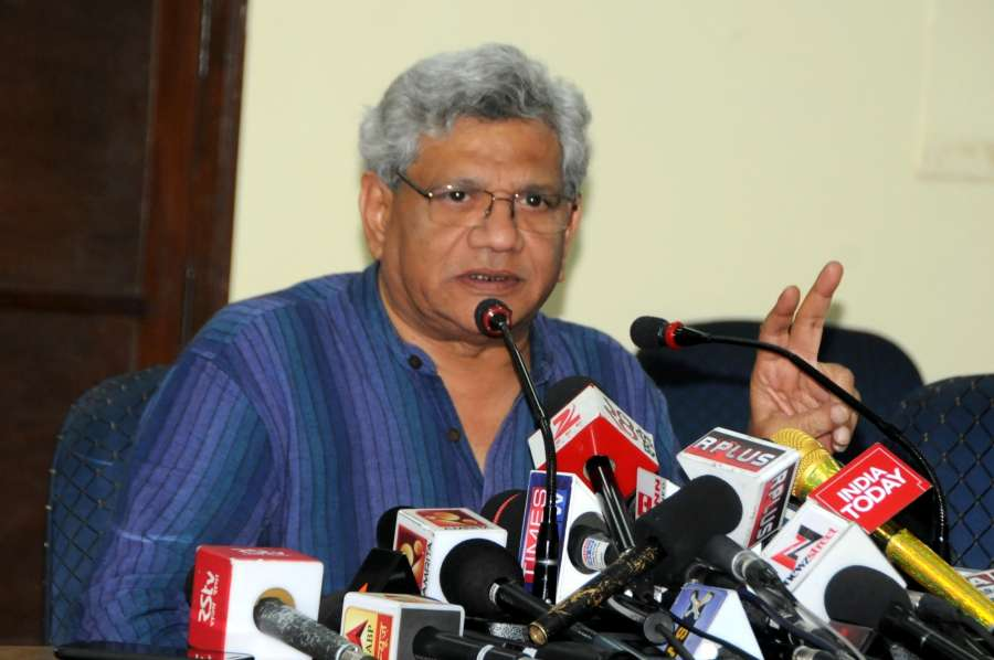 New Delhi: CPI-M General Secretary Sitaram Yechury addresses a press conference in New Delhi on June 7, 2017. (Photo: IANS) by .