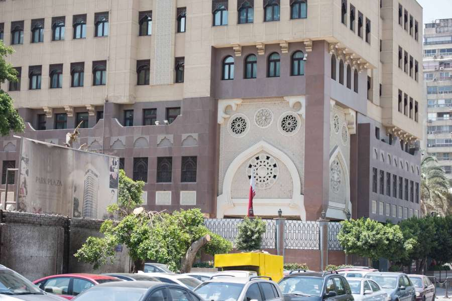 """CAIRO, June 5, 2017 (Xinhua) -- Photo taken on June 5, 2017 shows the Embassy of Qatar in Cairo, Egypt. Egypt announced on Monday the cut of diplomatic ties with Qatar, accusing the Gulf Arab state of supporting """"terrorist"""" organizations, according to a Foreign Ministry statement. (Xinhua/Meng Tao/IANS)(rh) by ."""