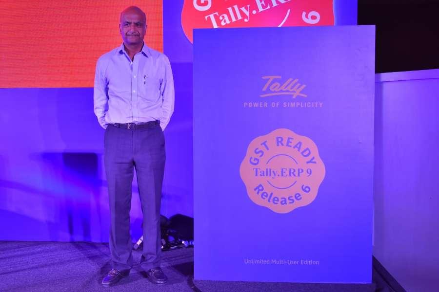 New Delhi: Tally Solutions Managing Director Bharat Goenka during the launch of
