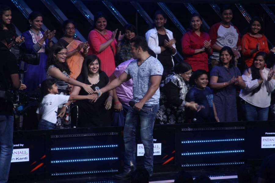 Mumbai: Actor Salman Khan during the promotion of film Tubelight on the sets of Star Plus TV show Nach Baliye Season 8 in Mumbai, on June 7, 2017. (Photo: IANS) by .