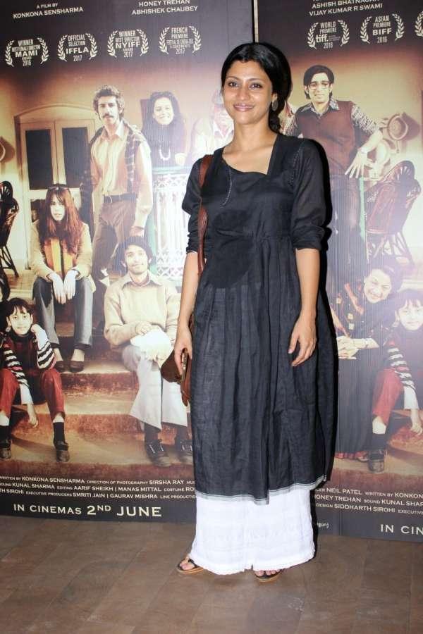 Mumbai: Actress Konkana Sen Sharma during the screening of film A Death in The Gunj in Mumbai on May 29, 2017. (Photo: IANS) by .