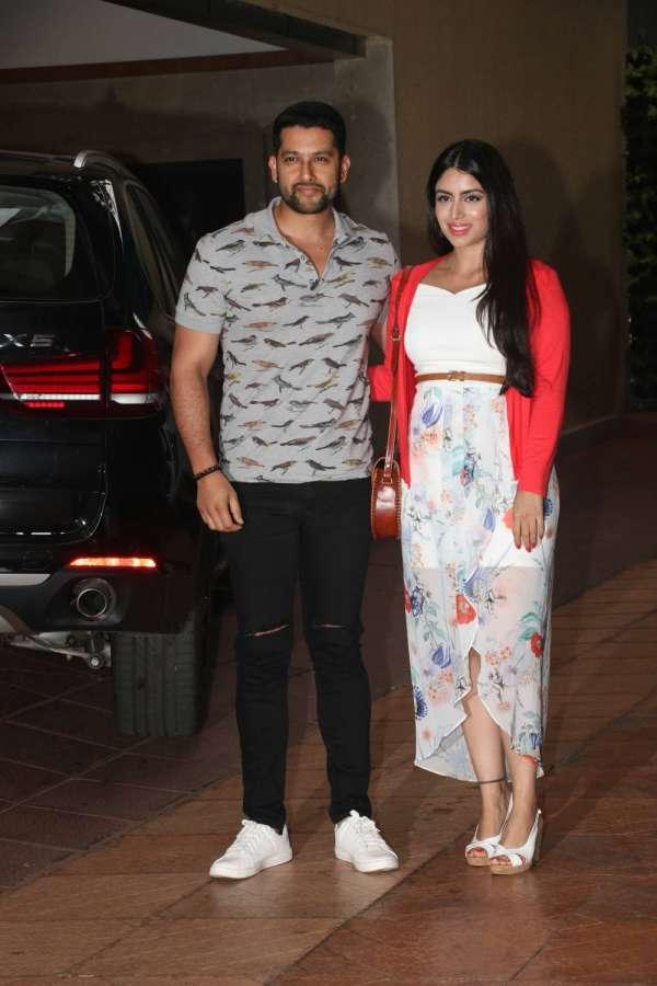 Mumbai: Actor Aftab Shivdasani along with his wife Nin Dusanj during Tussar Kapoor son Laksshay`s first birthday party in Mumbai on June 1, 2017. (Photo: IANS) by .