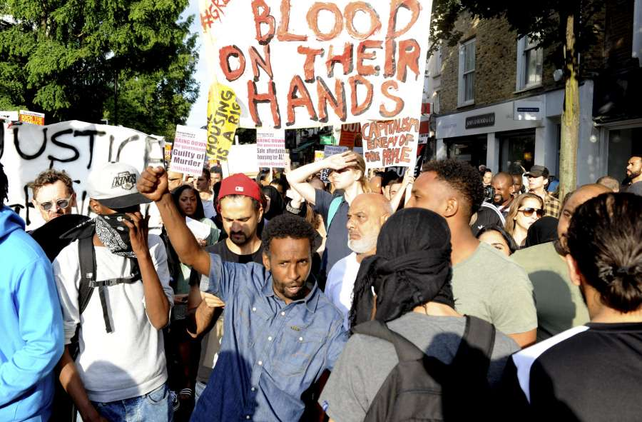 BRITAIN-LONDON-GRENFELL TOWER-FIRE-PROTEST by .