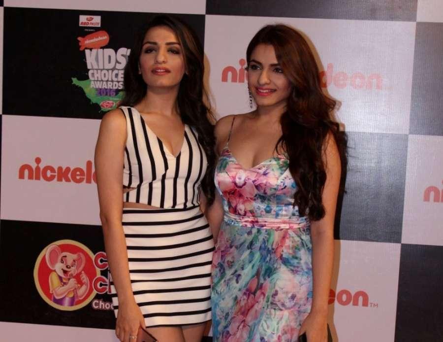 Mumbai: Singer Sukriti Kakar and Prakriti Kakar during the Nickelodeon`s Kids Choice Awards 2016 in Mumbai, on Dec 5, 2016. (Photo: IANS) by .