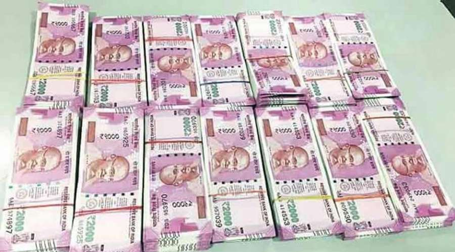 New Currency Notes of Rs 2000 denomination. (File Photo: IANS) by .